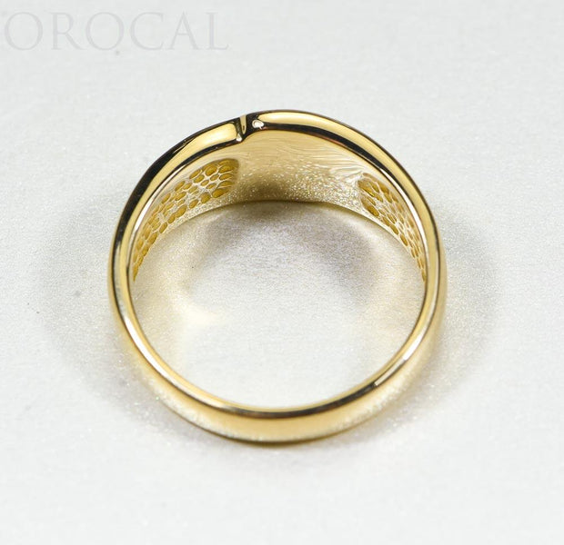 "Gold Quartz Ring ""Orocal"" RL882D8NQ Genuine Hand Crafted Jewelry - 14K Gold Casting"