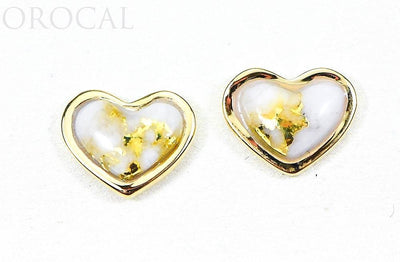 "Gold Quartz Earrings ""Orocal"" EHE7Q Genuine Hand Crafted Jewelry - 14K Gold Casting"