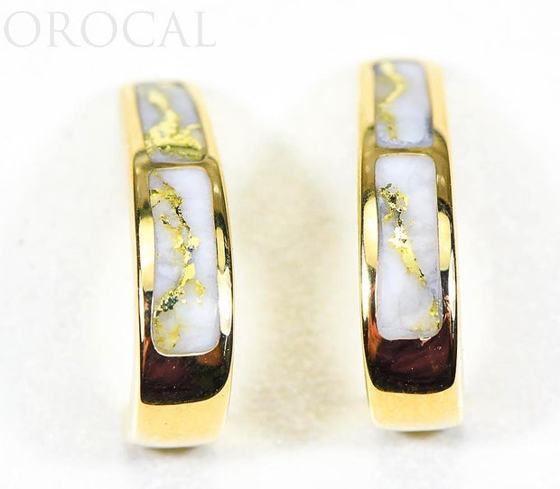 "Gold Quartz Earrings ""Orocal"" EH36Q Genuine Hand Crafted Jewelry - 14K Gold Casting"