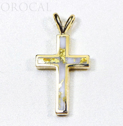 "Gold Quartz Pendant ""Orocal"" PCR9QX Genuine Hand Crafted Jewelry - 14K Gold Casting"
