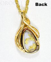"Gold Quartz Pendant ""Orocal"" PN826QX Genuine Hand Crafted Jewelry - 14K Gold Yellow Gold Casting"