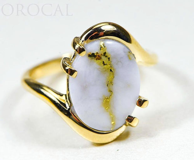 "Gold Quartz Ladies Ring ""Orocal"" RL994LQ Genuine Hand Crafted Jewelry - 14K Gold Casting"
