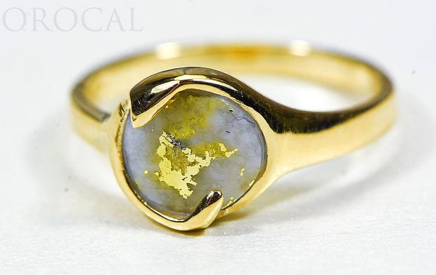 "Gold Quartz Ladies Ring ""Orocal"" RL650Q Genuine Hand Crafted Jewelry - 14K Gold Casting"