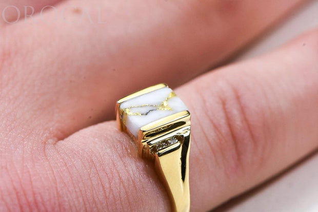 "Gold Quartz Ladies Ring ""Orocal"" RL743D6Q Genuine Hand Crafted Jewelry - 14K Gold Casting"