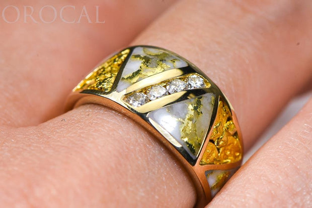 "Gold Quartz Ladies Ring ""Orocal"" RL883D20NQ Genuine Hand Crafted Jewelry - 14K Gold Casting"