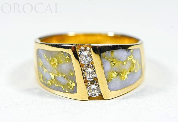 "Gold Quartz Ladies Ring ""Orocal"" RL470LD45Q Genuine Hand Crafted Jewelry - 14K Gold Casting"
