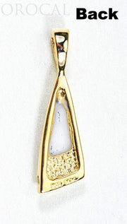"Gold Quartz Pendant ""Orocal"" PN1058DQ Genuine Hand Crafted Jewelry - 14K Gold Yellow Gold Casting"