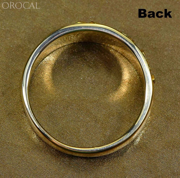 Gold Nugget Mens Ring Orocal Rm10Mmt Genuine Hand Crafted Jewelry - 14K Casting