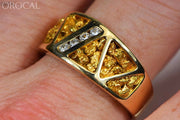 Gold Nugget Mens Ring Orocal Rm883D20N Genuine Hand Crafted Jewelry - 14K Casting