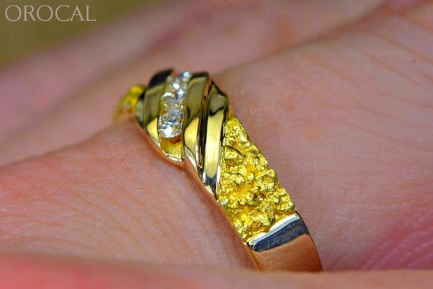Gold Nugget Mens Ring Orocal Rmaj036D Genuine Hand Crafted Jewelry - 14K Casting