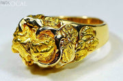 Gold Nugget Mens Ring Orocal Rmen102 Genuine Hand Crafted Jewelry - 14K Casting