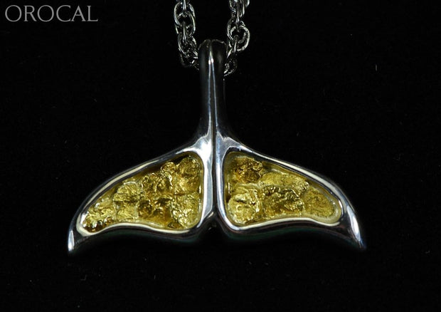 Gold Nugget Pendant Whales Tail - Sterling Silver Special Pajwt301Nss Hand Made Jewelry Specials