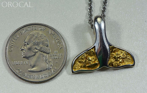 Gold Nugget Pendant Whales Tail - Sterling Silver Special Pwt34Nss Hand Made Jewelry Specials