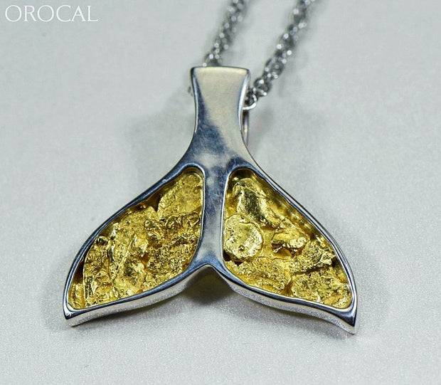 Gold Nugget Pendant Whales Tail - Sterling Silver Special Pwt35Nssx Hand Made Jewelry Specials