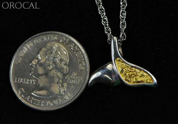 Gold Nugget Pendant Whales Tail - Sterling Silver Special Pwt37Snss Hand Made Jewelry Specials