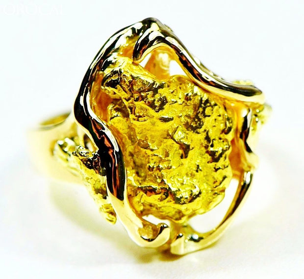 Gold Nugget Womens Ring Orocal Rl232L Genuine Hand Crafted Jewelry - 14K Casting