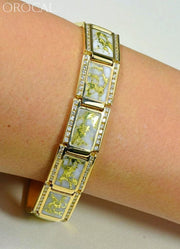 Gold Quartz Bracelet Orocal B16Mmdq Genuine Hand Crafted Jewelry - 14K Casting