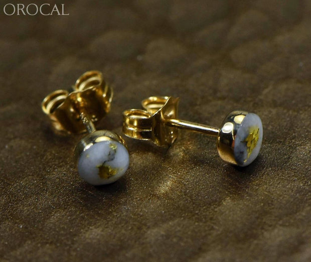Gold Quartz Earrings Orocal Ebz4Mmq Genuine Hand Crafted Jewelry - 14K Yellow Casting
