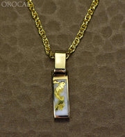 Gold Quartz Pendant Orocal Pb5.5Mmqxq Genuine Hand Crafted Jewelry - 14K Yellow Casting