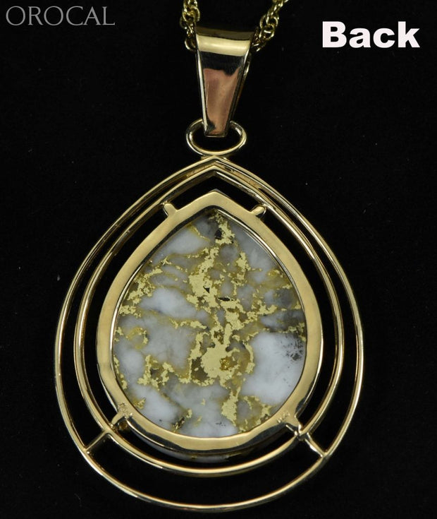 Gold Quartz Pendant Orocal Pn1076Lq Genuine Hand Crafted Jewelry - 14K Yellow Casting