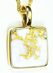 Gold Quartz Pendant Orocal Pn1107Q Genuine Hand Crafted Jewelry - 14K Yellow Casting