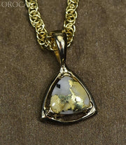 Gold Quartz Pendant Orocal Pn441Qx Genuine Hand Crafted Jewelry - 14K Yellow Casting