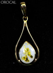 Gold Quartz Pendant Orocal Pn869Qx Genuine Hand Crafted Jewelry - 14K Yellow Casting
