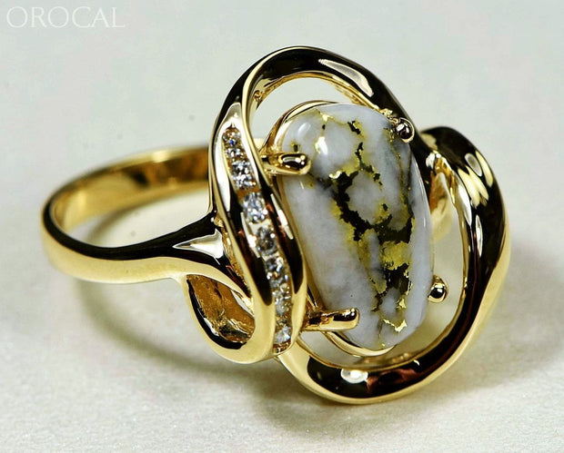 Gold Quartz Ring Orocal Rl1028Dq Genuine Hand Crafted Jewelry - 14K Casting
