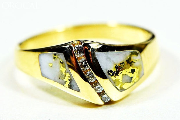Gold Quartz Ring Orocal Rl1064Dq Genuine Hand Crafted Jewelry - 14K Casting