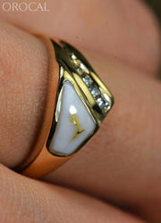 Gold Quartz Ring Orocal Rl1073Dq Genuine Hand Crafted Jewelry - 14K Casting