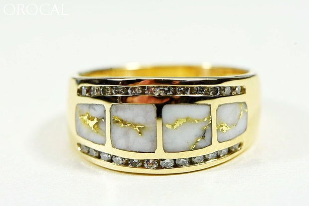 Gold Quartz Ring Orocal Rl1075Dq Genuine Hand Crafted Jewelry - 14K Casting