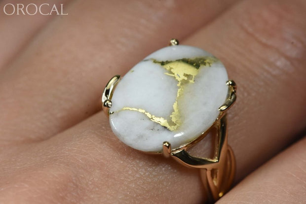 Gold Quartz Ring Orocal Rl1106Q Genuine Hand Crafted Jewelry - 14K Casting