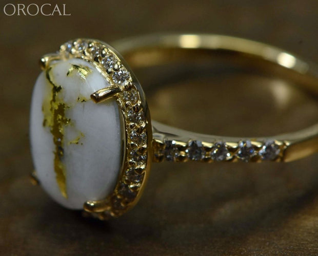 Gold Quartz Ring Orocal Rl1109Dq Genuine Hand Crafted Jewelry - 14K Casting