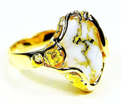 Gold Quartz Ring Orocal Rl232Lq Genuine Hand Crafted Jewelry - 14K Casting