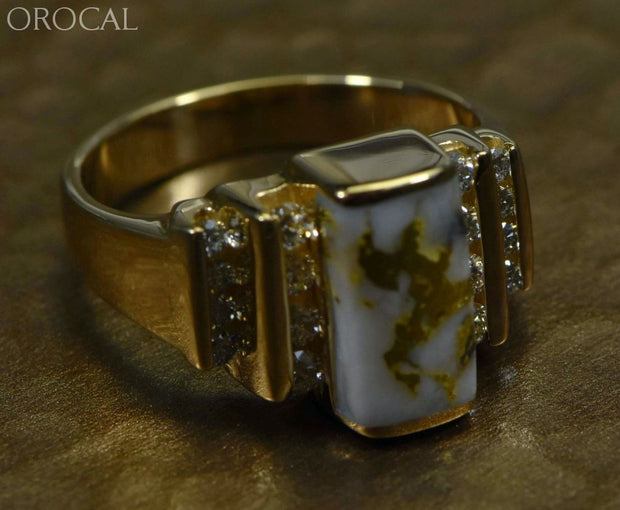 Gold Quartz Ring Orocal Rl639D48Q Genuine Hand Crafted Jewelry - 14K Casting