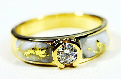 Gold Quartz Ring Orocal Rl728D33Q Genuine Hand Crafted Jewelry - 14K Casting