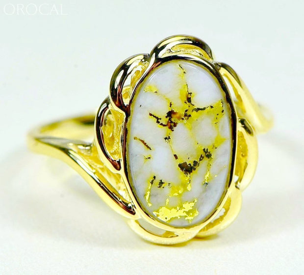 Gold Quartz Ring Orocal Rl754Q Genuine Hand Crafted Jewelry - 14K Casting