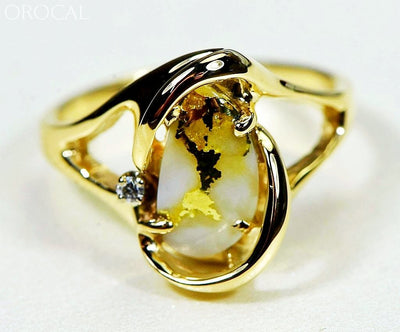 Gold Quartz Ring Orocal Rl784Sdq Genuine Hand Crafted Jewelry - 14K Casting
