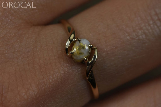 Gold Quartz Ring Orocal Rl789Q Genuine Hand Crafted Jewelry - 14K Casting