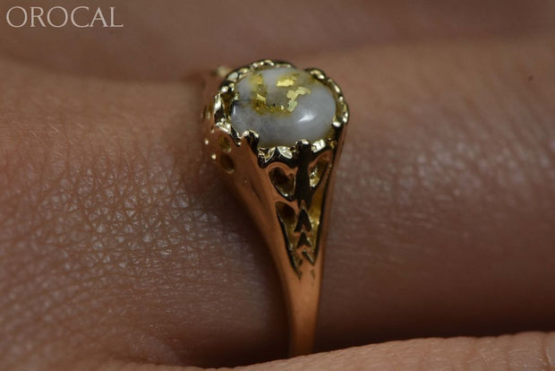 Gold Quartz Ring Orocal Rl790Q Genuine Hand Crafted Jewelry - 14K Casting