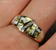 Gold Quartz Ring Orocal Rl882D8Q Genuine Hand Crafted Jewelry - 14K Casting