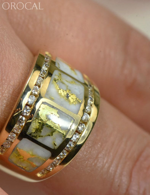 Gold Quartz Ring Orocal Rl892D60Q Genuine Hand Crafted Jewelry - 14K Casting
