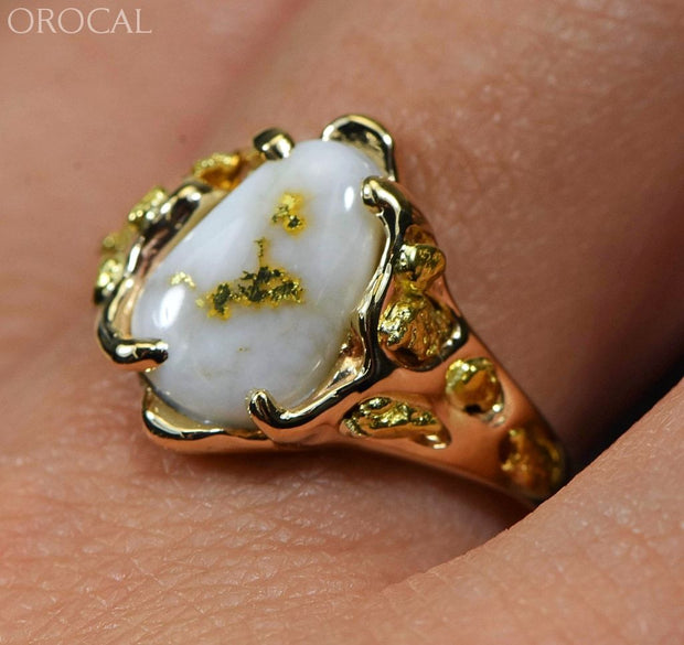 Gold Quartz Ring Orocal Rl964Q Genuine Hand Crafted Jewelry - 14K Casting