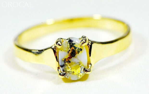 Gold Quartz Ring Orocal Rldl19Q7*5 Genuine Hand Crafted Jewelry - 14K Casting