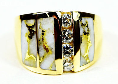 Gold Quartz Ring Orocal Rlj500Dq Genuine Hand Crafted Jewelry - 14K Casting