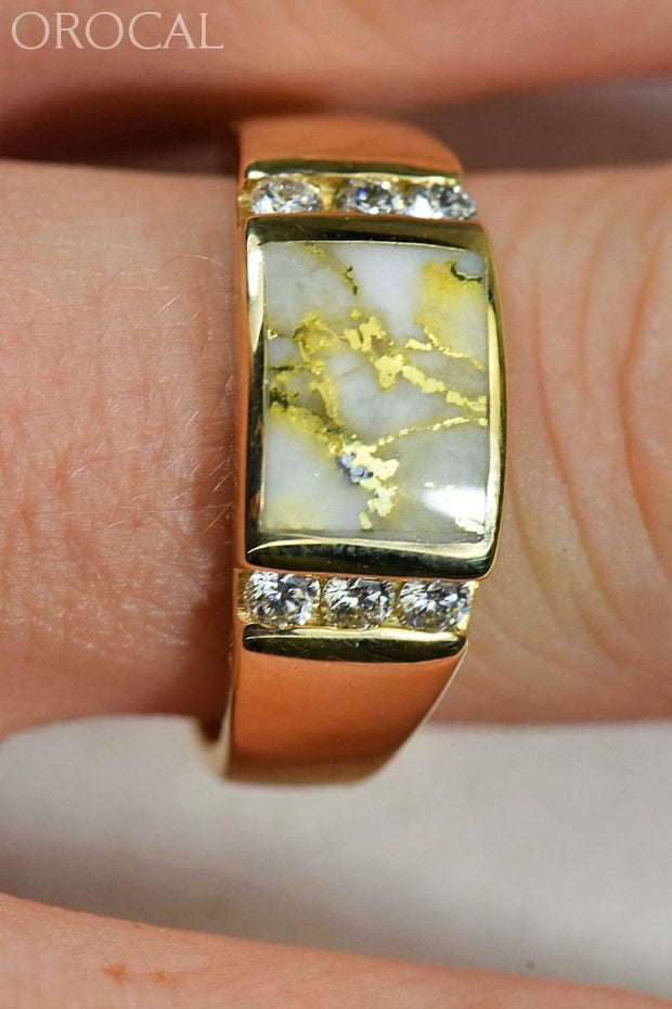 Gold Quartz Ring Orocal Rm1052D42Q Genuine Hand Crafted Jewelry - 14K Casting