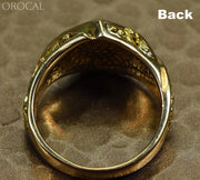 Gold Quartz Ring Orocal Rm1083Nq Genuine Hand Crafted Jewelry - 14K Casting