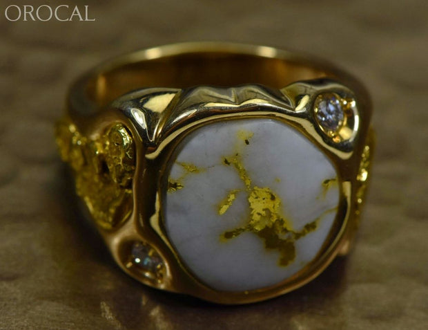 Gold Quartz Ring Orocal Rm518D20Q Genuine Hand Crafted Jewelry - 14K Casting