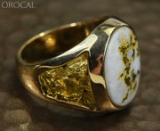 Gold Quartz Ring Orocal Rm552Q Genuine Hand Crafted Jewelry - 14K Casting