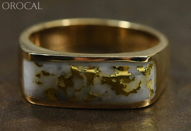 Gold Quartz Ring Orocal Rm567Q Genuine Hand Crafted Jewelry - 14K Casting